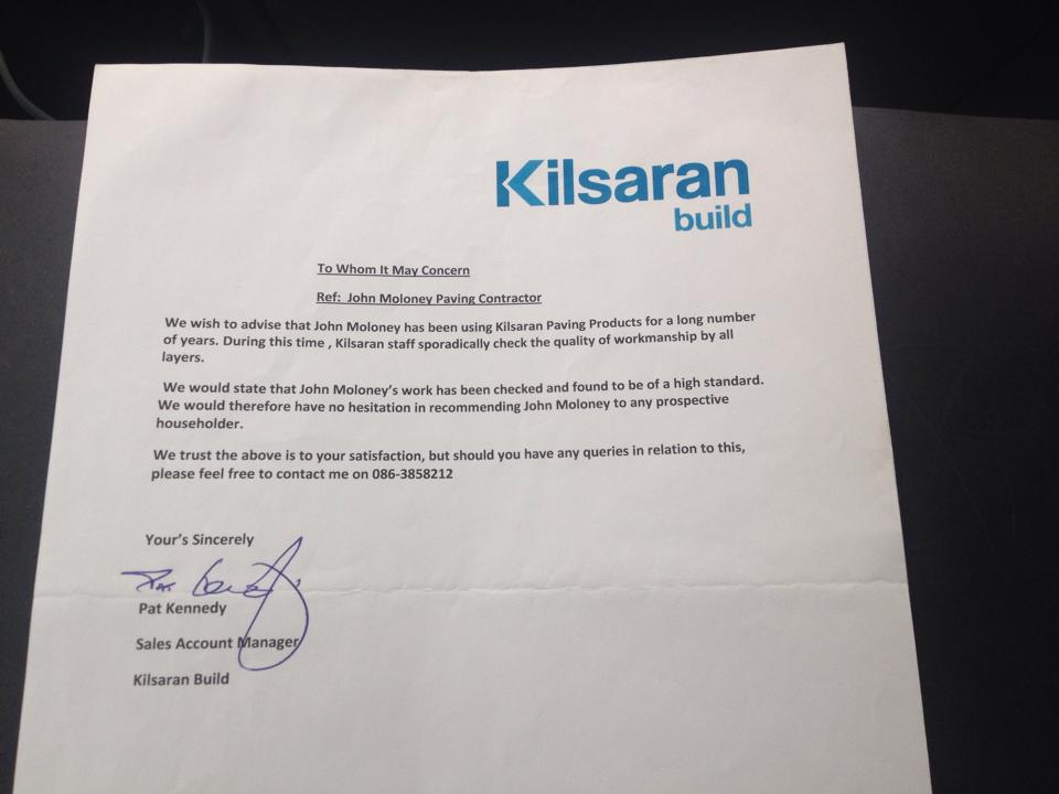Recommend Kilsaran Paving Contractor