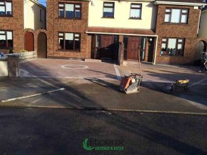 Finished driveway block paving installation in Dublin