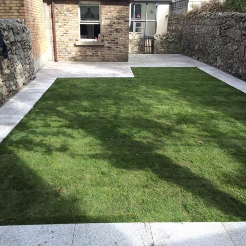 New Lawn and Pathway in Rathfarnham, Co. Dublin