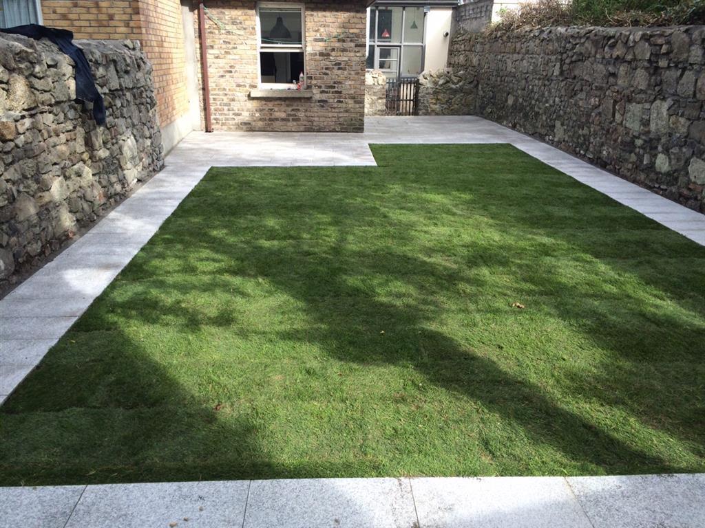 New Lawn and Pathway in Rathfarnham, Co. Dublin