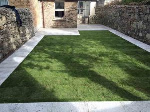 Finished Garden Landscape with New Lawn and Pathway