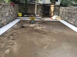 During Landscape Preparation