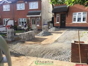 During preparation of tarmac driveway