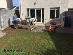 Preparation of patio area in Dublin