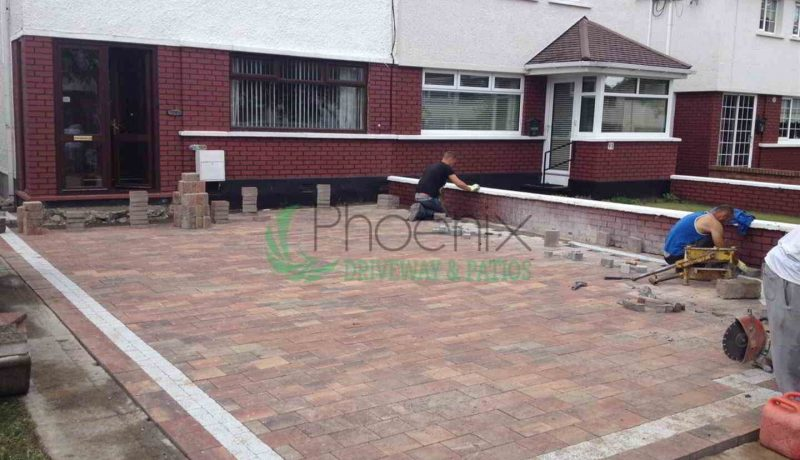 Block paving a driveway in Dublin