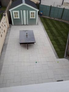 Silver Granite Patio in Whitehall, Dublin