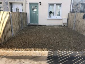 Gravel Driveway with New Wooden Fencing in Inchicore, Dublin