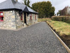 Gravel Driveway with a Paved Footpath in Milltownpass, Co. Westmeath