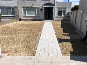 Gravel Driveway with a Paved Footpath in Dundrum, Dublin