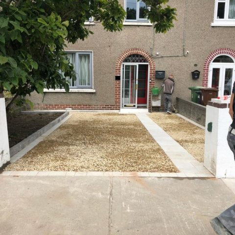 Gravel Driveway with a Paved Footpath in Walkinstown, Dublin
