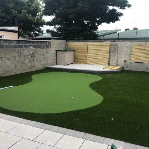 Raised Patio with Astroturf in Dublin